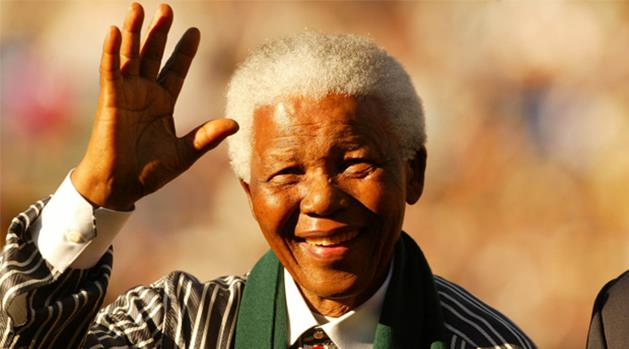 تصویر زنده باد نلسون ماندلا، رهبر ملی و مبارز بر ضد آپارتاید