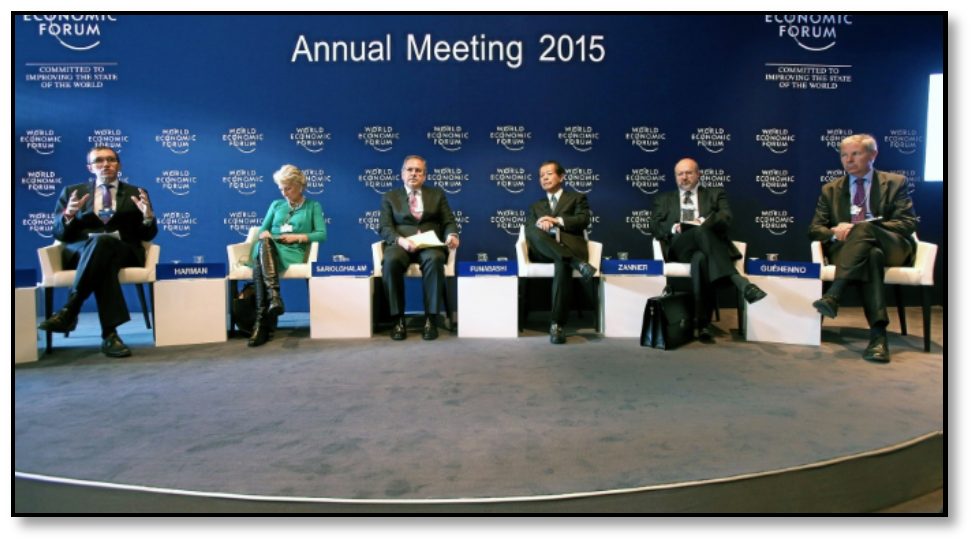 تصویر مدعیات شرکت کنندگان در «مجمع جهانی اقتصاد» داووس  و واقعیات جهان امروز