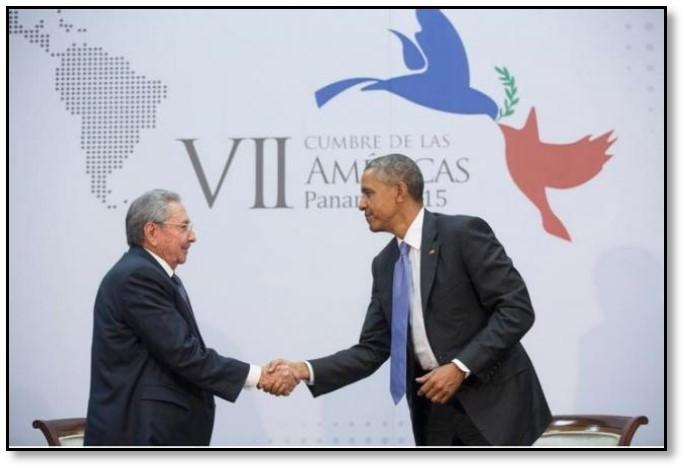 تصویر برقراری مجدد روابط دیپلماتیک میان کوبا و آمریکا