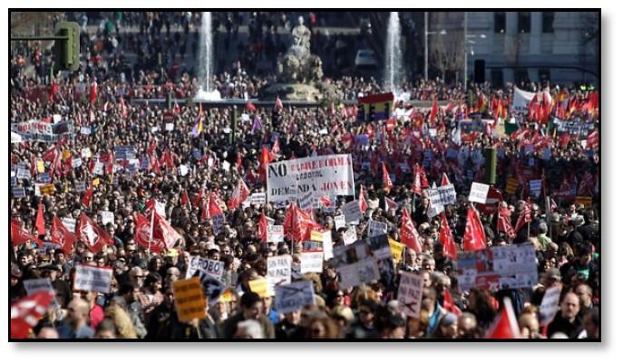 تصویر اتحادیهٔ اروپا مردم یونان را به صلیب کشیده است!
