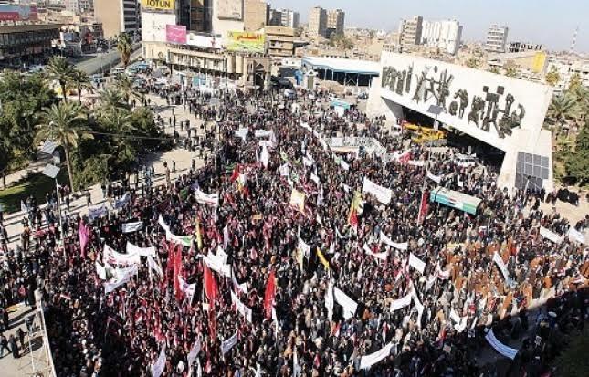 تصویر دربارهٔ رویدادهای داخلی اخیر عراق  طغیان مردم عراق علیه فساد و فرقه گرایی!