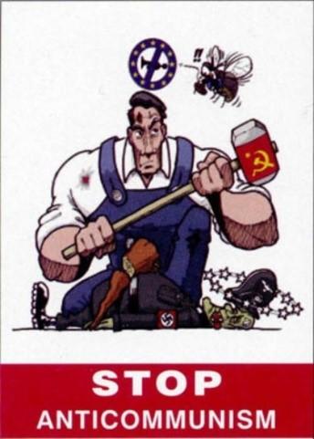 تصویر حزبهای کمونیست و کارگری پایکوبی ضدکمونیستی سازمان داده شده توسط اتحادیهٔ اروپا را محکوم میکنند