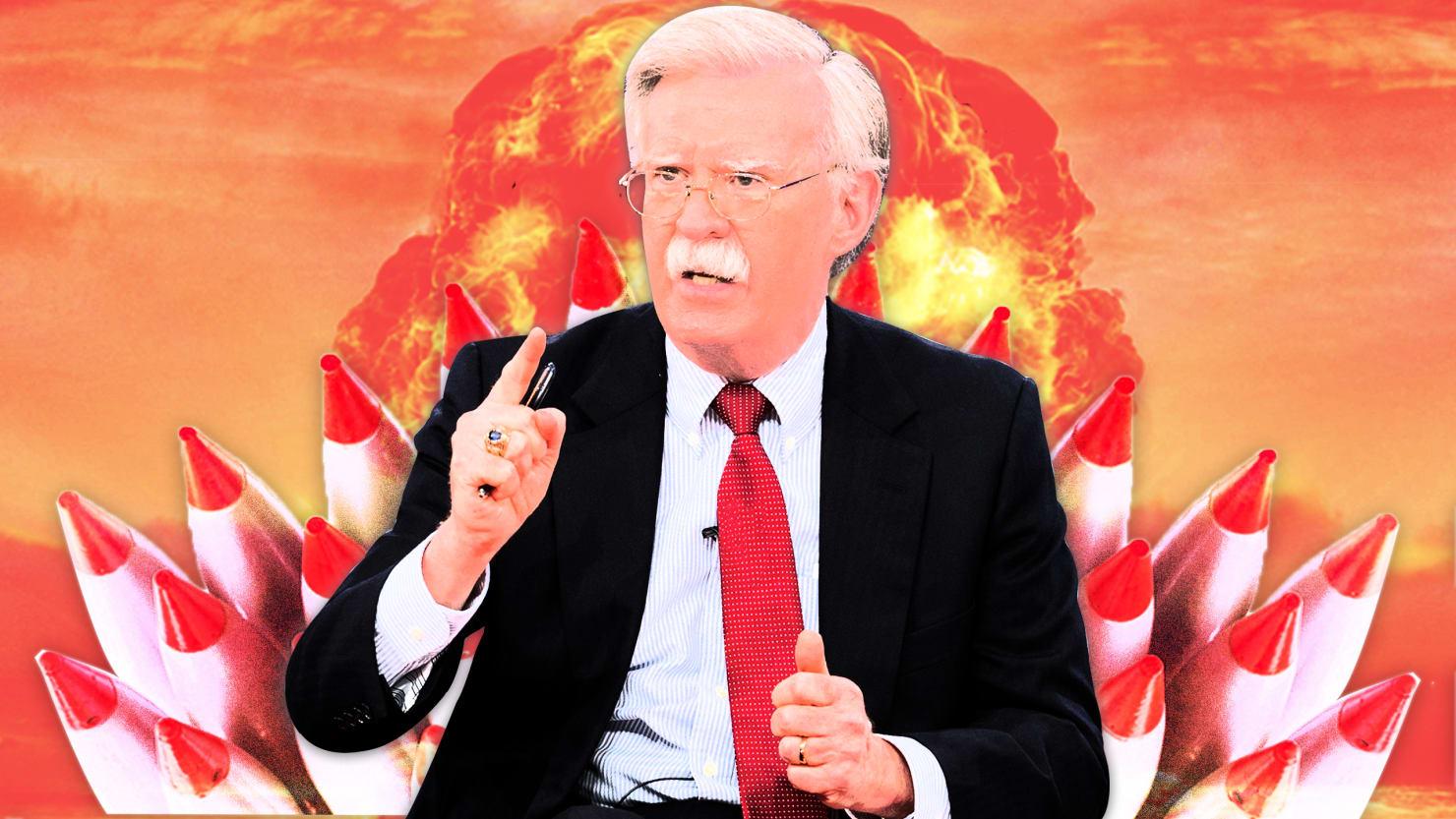 تصویر جان بولتونِ هوادار جنگ هستهیی مسئول امنیت ملّی آمریکا شد