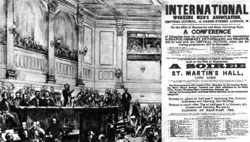 تصویر مارکس، لندن، و انترناسیونال اول