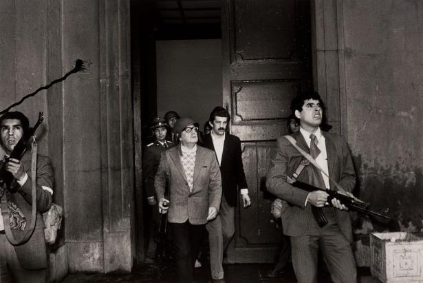 تصویر آخرین سخنرانی مبارز راستین خلق: سالوادور آلنده