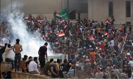 تصویر به سرکوب تظاهرکنندگان  فوراً پایان دهید!