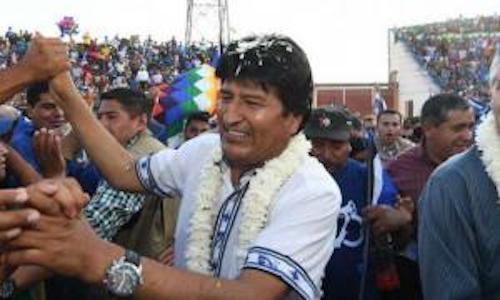 تصویر کنارهگیری اِوو مورالس، رئیسجمهور بولیوی، در پی اقدام کودتایی نیروهای راستگرا