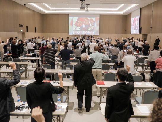تصویر فراخوان مشترک بیستویکمین نشست بینالمللی  حزبهای کمونیست و کارگری