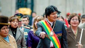 تصویر مصاحبهٔ با اوو مورالِس، رئیسجمهور پیشین بولیوی ما مدافع زندگی و صلح، ولی همراه با عدالت اجتماعی، هستیم!