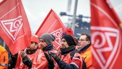 کارگران اعتصابی آلمان