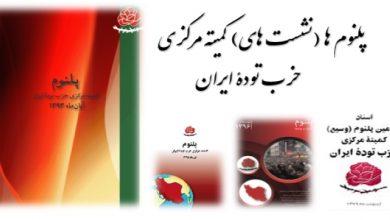اسناد پلنومهای (نشستهای کمیتۀ مرکزی) حزب تودۀ ایران
